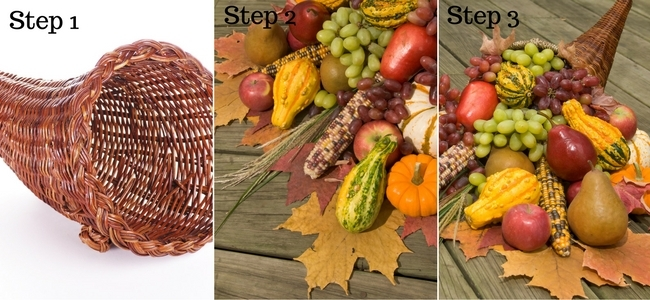 Steps to Make a DIY Cornucopia